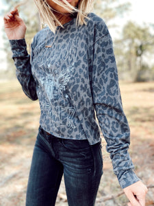 DREAMER LEOPARD LONG SLEEVED TEE