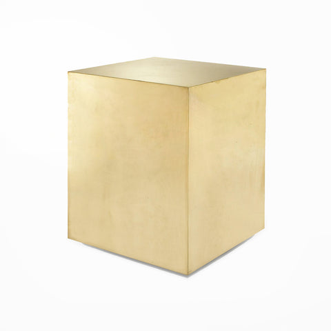 Tower Pedestal Table - Brass
