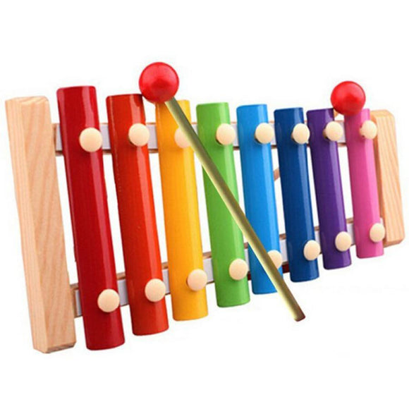 (FS) 8 scales Tune whistle early childhood  wooden musical instrument toys trailer Musical Toys