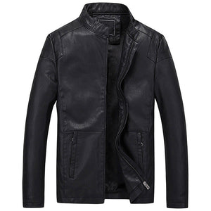 Mens Leather Jacket And Coat Mandarin Collar Motorcycle Leather Jacket Men Red Jacket Leather Men