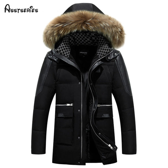 Free Shipping Men's  Winter Outwear Long Thick Coat  Jacket