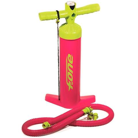 Our F-One Big Air Kite Pump in pink and yellow