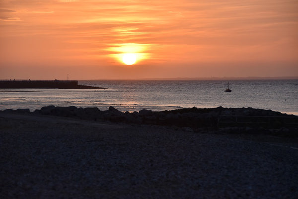 Sunset over Morecambe Bay in North-West England