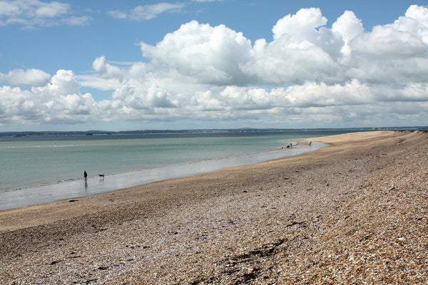 Clouds in the sky over one of Hayling Islands beautiful beaches