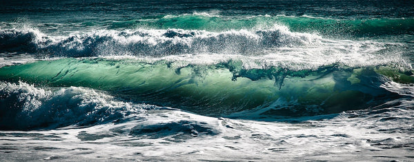 blue green ocean sea waves