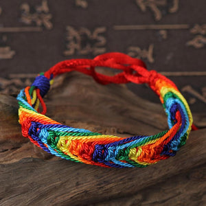 LGBT Flag Braid Rainbow Bracelet