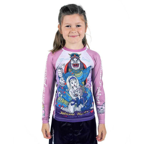 Kids Meerkatsu Alice in Jiu-Jitsu Land Rash Guard
