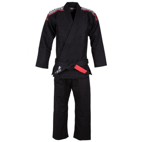 Kids Nova Mk4 BJJ Gi Black - Inc FREE White Belt