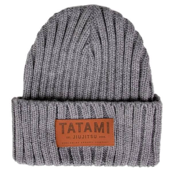 Folded Beanie Hat - Grey