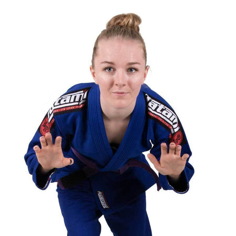 Ladies Nova Mk4 BJJ Gi Blue - Inc FREE White Belt
