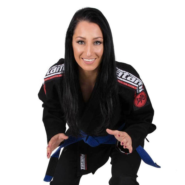 Ladies Nova Mk4 BJJ Gi Black - Inc FREE White Belt