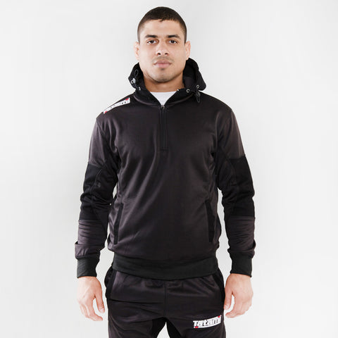 Athletic Pearl Weave Black Tracksuit