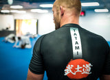 Bushido Black Short Sleeve Rash Guard