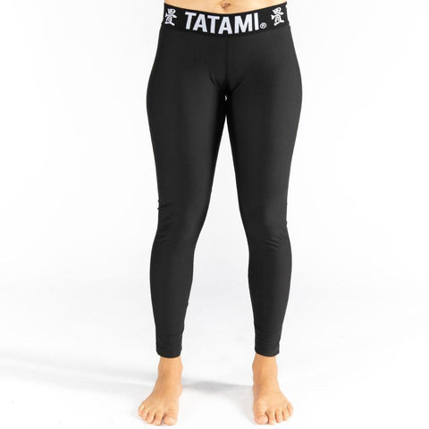 Ladies Black Minimal Spats