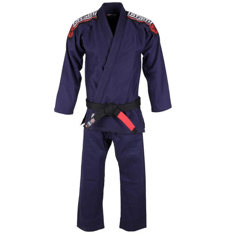 Kids Nova Mk4 BJJ Gi Navy - Inc FREE White Belt