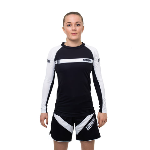 Ladies IBJJF 2020 Ranked Long Sleeve Rash Guard - White