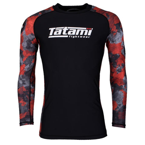 Renegade Red Camo Long Sleeve Rash Guard