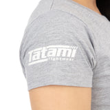 Ladies Retro T-Shirt Grey