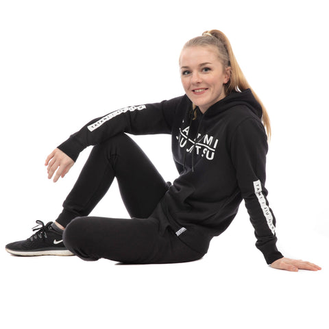 Ladies Rival Tracksuit (Hoodie and Joggers) - Black