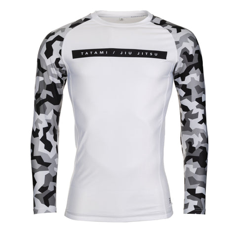Rival white & Camo Long Sleeve Rash Guard - white