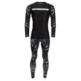 Rival Black & Camo Long Sleeve Rash Guard - Black
