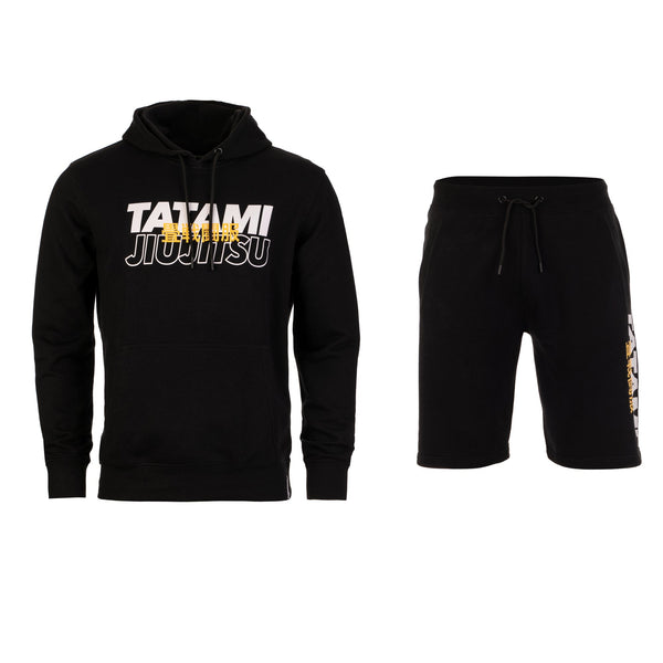 Summit Tracksuit (Hoodie and Shorts) - Black