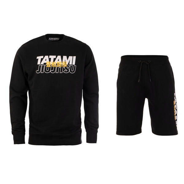 Summit Tracksuit (Sweater and Shorts) - Black