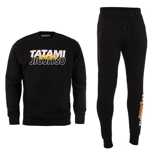 Summit Tracksuit (Sweater and Joggers) - Black