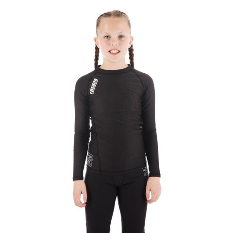 Kids Black Nova Rash Guard
