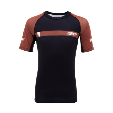 IBJJF 2020 Ranked Short Sleeve Rash Guard - Brown