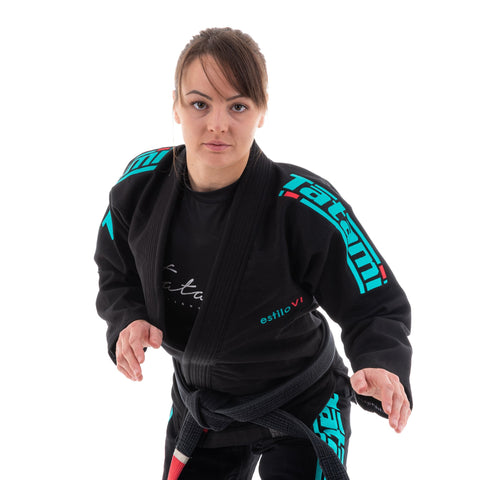 LADIES ESTILO 6.0 BLACK & TEAL