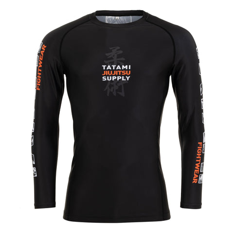 Tropic Black Long Sleeve Rash Guard