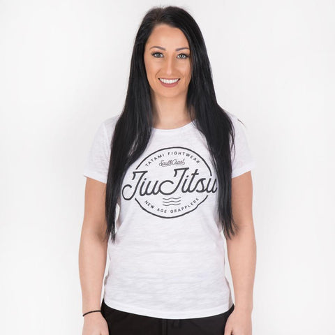 Ladies Jiu Jitsu Wave T-Shirt - White