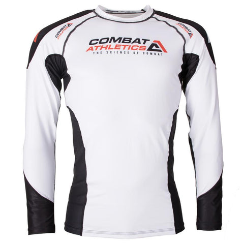 Combat Athletics White Fight Performance Rash Guard