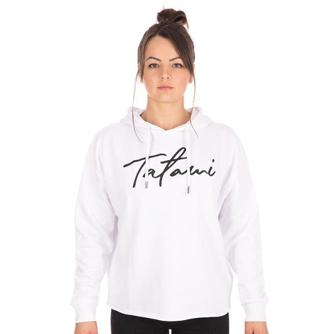 Ladies Cropped Hoodie - White