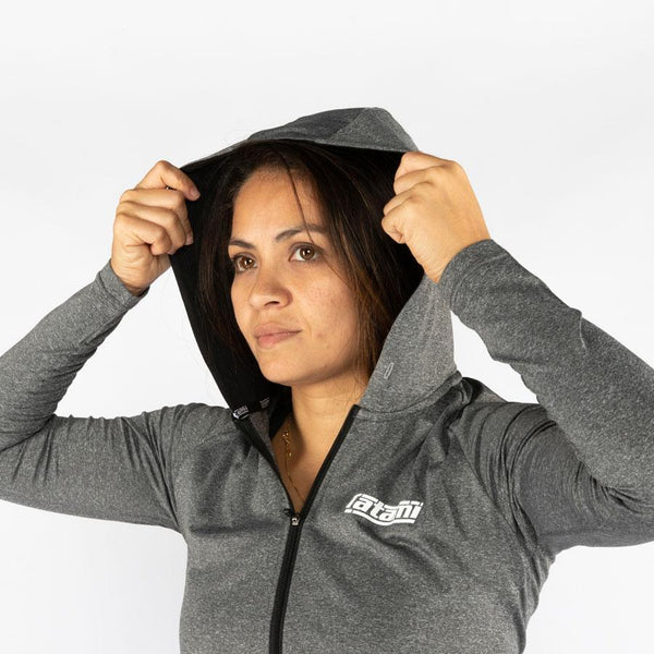 Ladies Lightweight Grey Hoodie