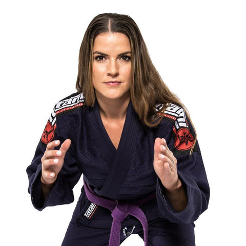 Ladies Nova Mk4 BJJ Gi Navy - Inc FREE White Belt