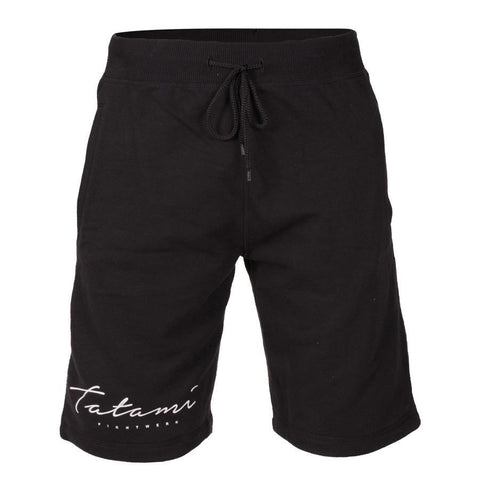 Script Black Sweat Shorts
