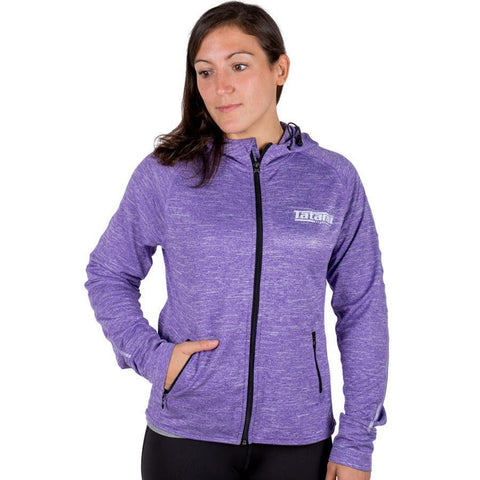 Ladies Lilac Zip Up Track Jacket