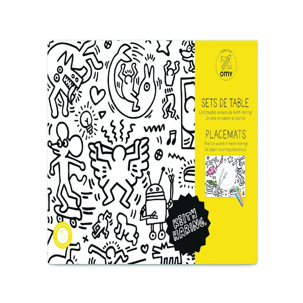 OMY \'Keith Haring\' Coloring Paper Placemats – Mighty Little Shop