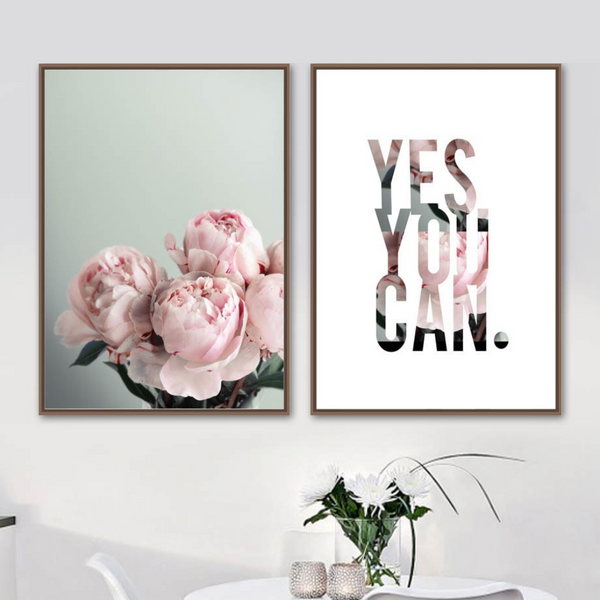 Yes You Can Collection - Canvas Wall Art
