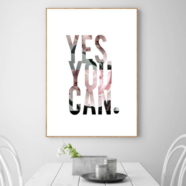 Yes You Can Canvas Wall Art