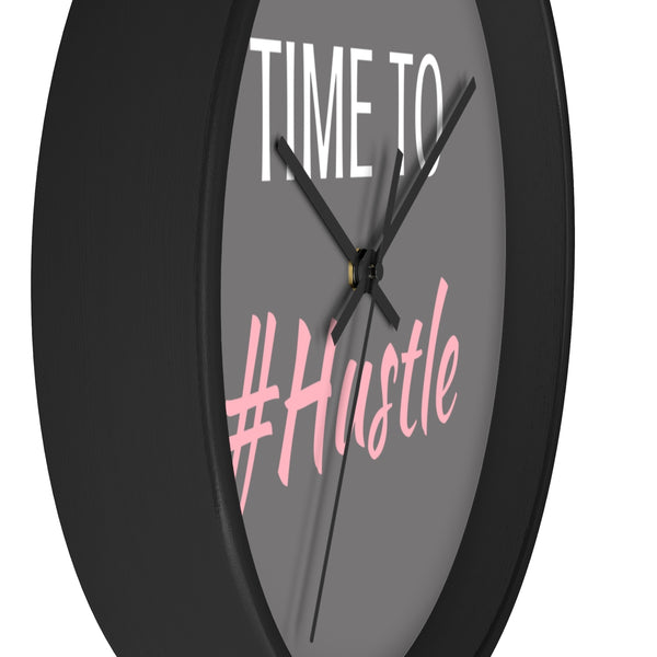 Time To #Hustle Wall Clock