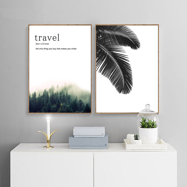 Travel The Only Thing You Buy That Makes You Richer Canvas Wall Art