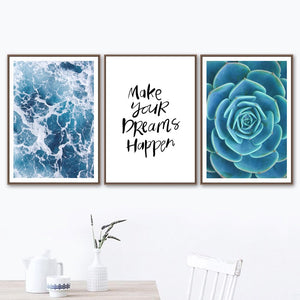 Make Your Dreams Happen - Canvas Wall Art