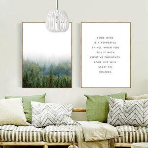 Positive Thoughts Canvas Wall Art