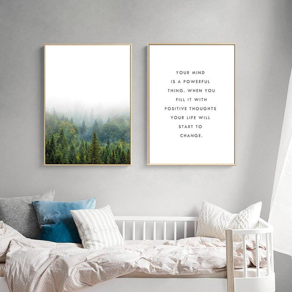 Misty Mountains Canvas Wall Art