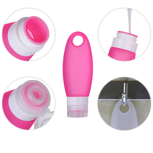 Refillable Soft Silicone Travel Bottles Set