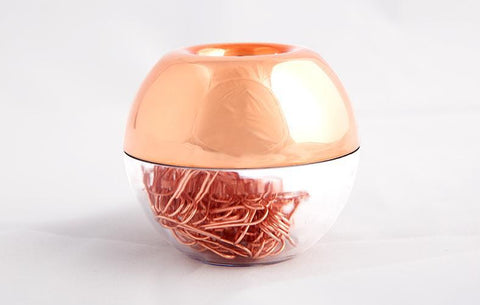 Rose Gold Paper Clip Holder