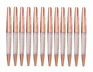 Rose Gold Crystal Metal Pens